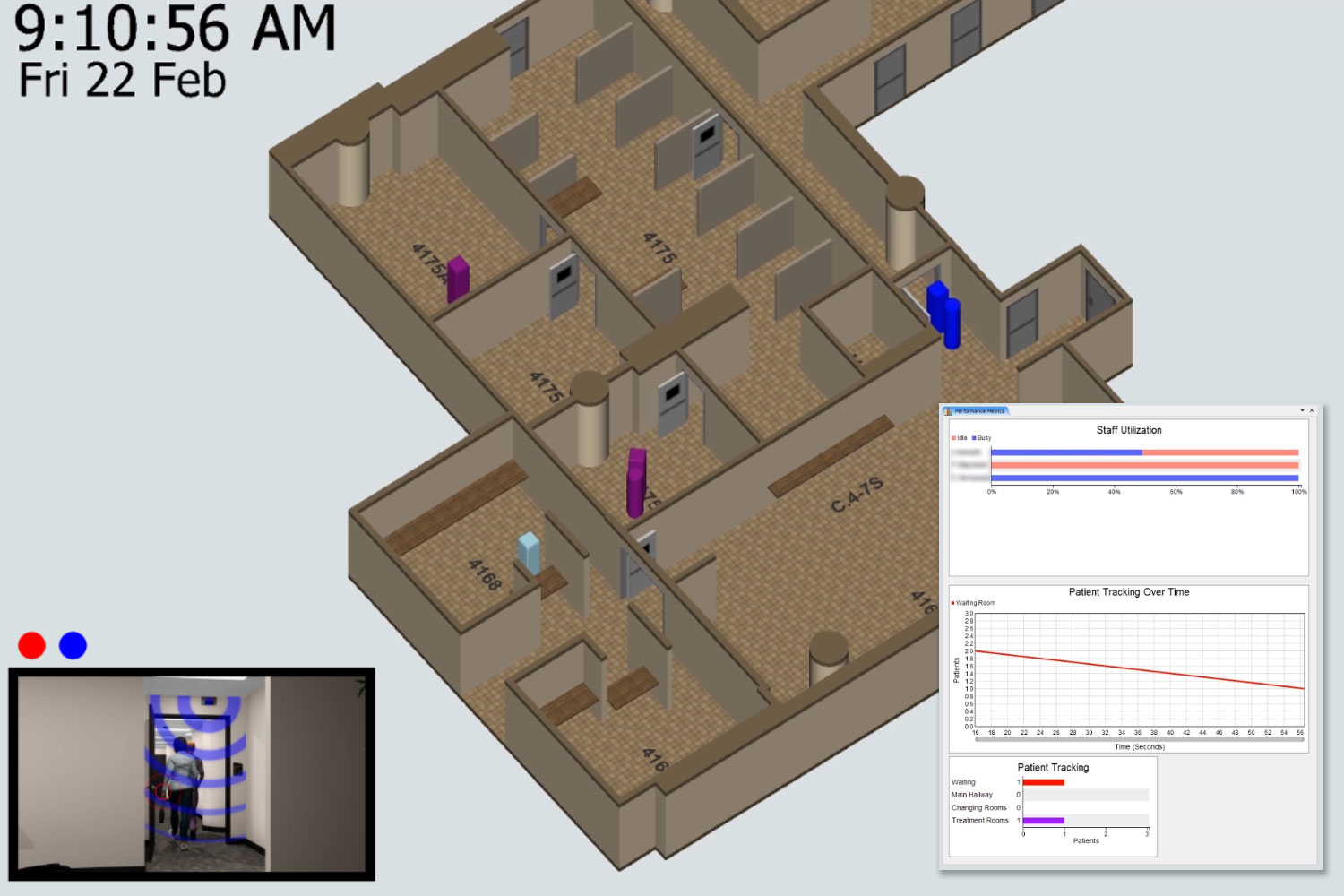 3d floorplan chart camera tracking person